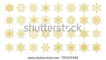 set of 32 decorative gold