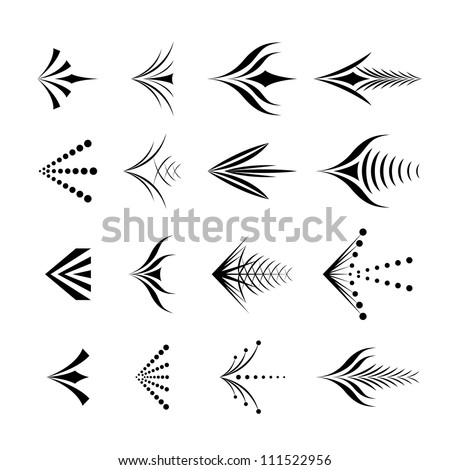 Set of decorative graphical arrows