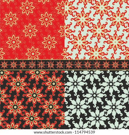 Set Of Decorative Samples Of Wrapping Decorative Paper