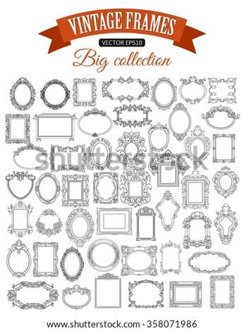 set of decorative vector frame