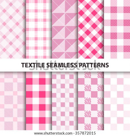 set of delicate cloth patterns