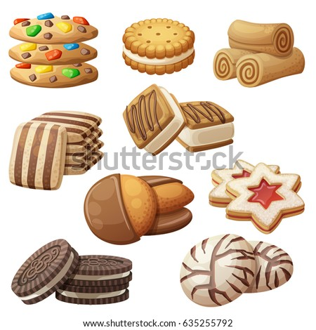 set of delicious cookies