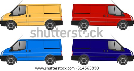 set of delivery van ford