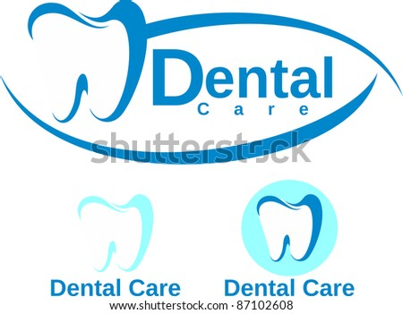set of dental icon in vector format very easy to edit