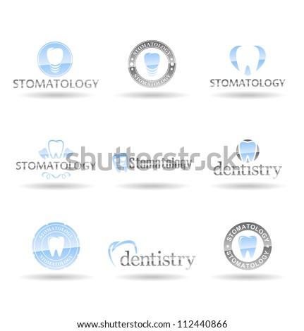 Set of dental icons. Stomatology. Vol 2.