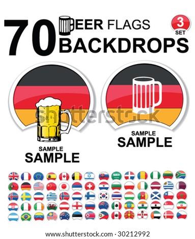 set of design elements - beer backdrops