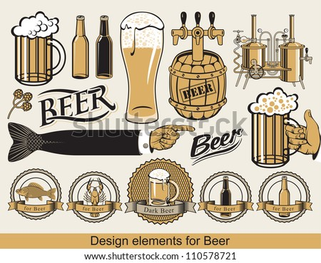 set of design elements for beer
