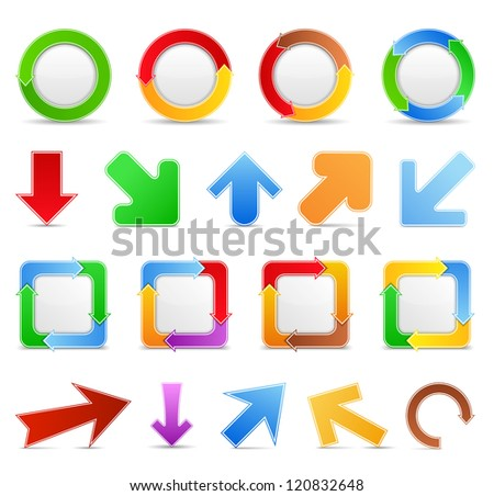 Set of design elements with arrows, vector eps10 illustration