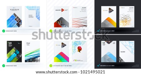 Set of design of brochure, abstract annual report, cover modern layout, flyer