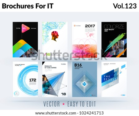Set of design of brochure, abstract annual report, cover modern layout, flyer #1024241713