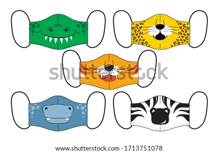 set of designs o reusable mouth