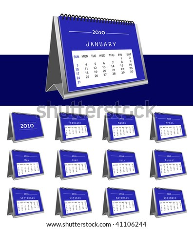 set of 2010 desk calendar