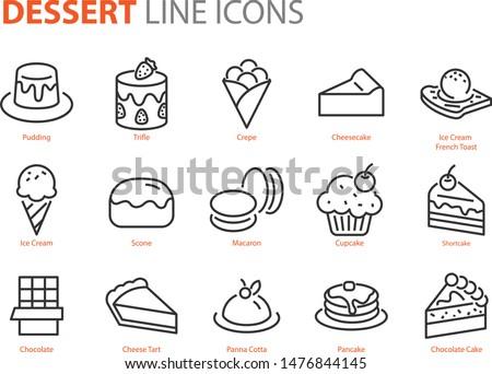 set of dessert icons  sweet
