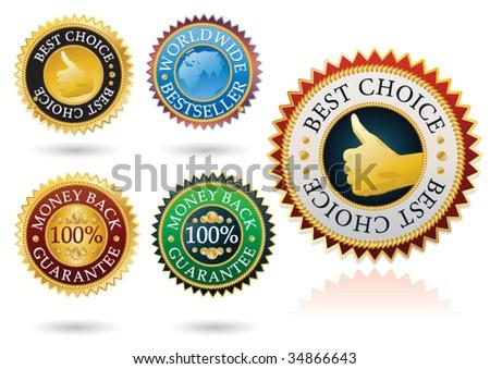 set of 5 detailed best label