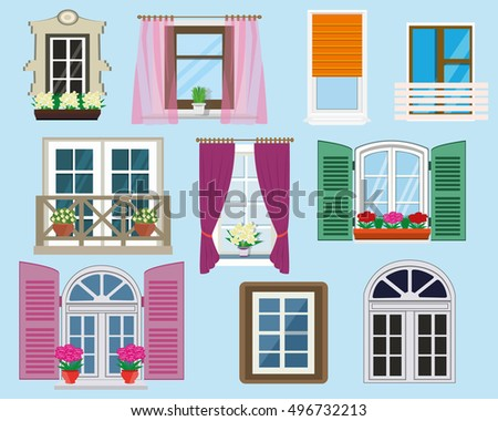 window curtain vector set download free vector art stock graphics