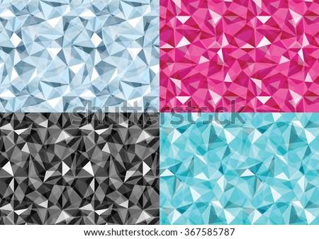 set of diamond pattern of