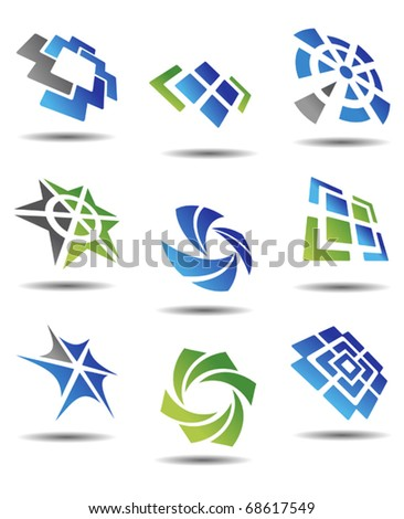 Set of different abstract symbols for design - also as emblem or template. Jpeg version also available in gallery