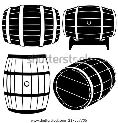 set of different barrels...