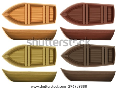 set of different color wooden