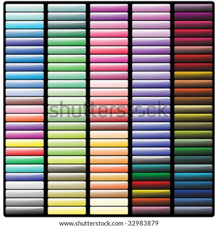 Set of different colored vector banners