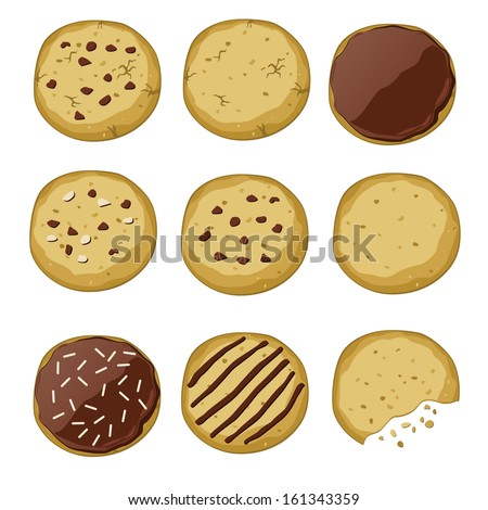 Set of different cookies (vector illustration)