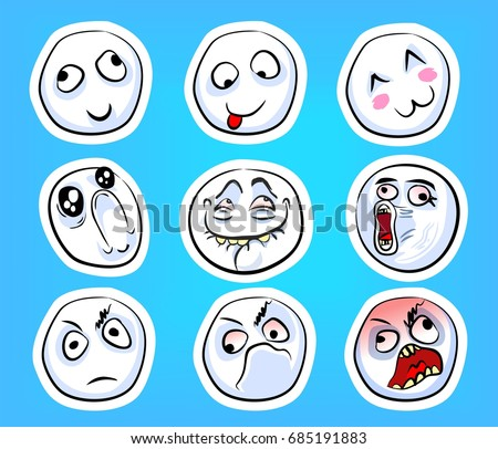 set of different emotional