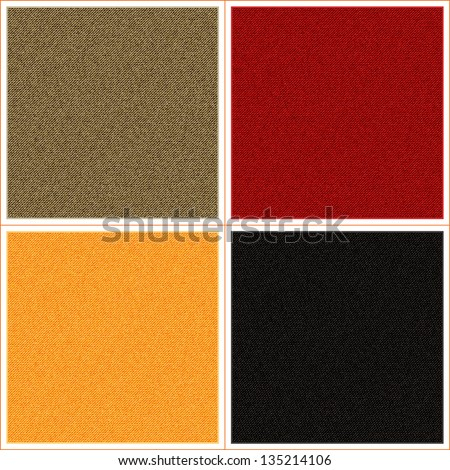 set of different fabric texture