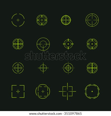 set of different flat vector