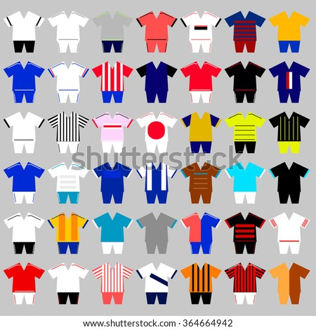 set of different football