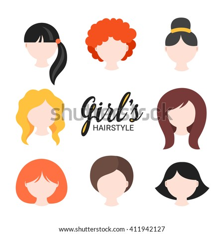 set of different girl's