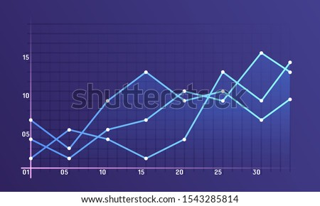 Set of different graphs and charts. Infographics and diagnostics, charts and schemes vector. Business charts and graphs infographic elements. Currency business and market charts vector set.