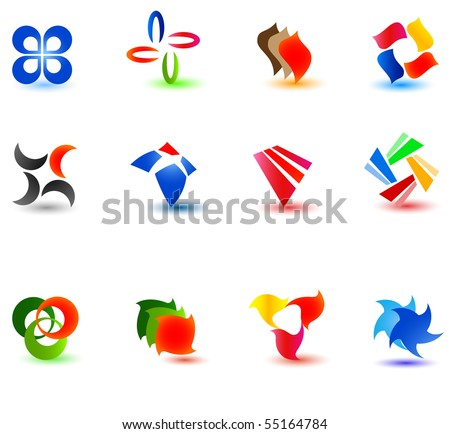 Set of different icons for your design (part 8). Please visit my gallery to see similar. - stock vector