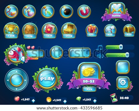 set of different items vector