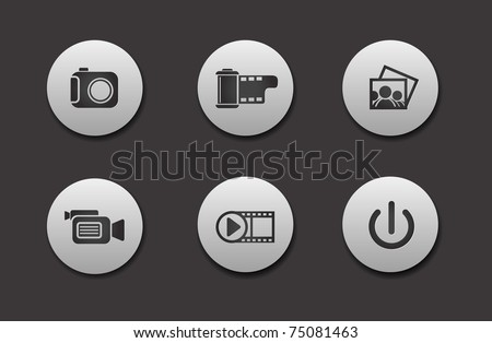 Set of different Media Icons graphics for web design