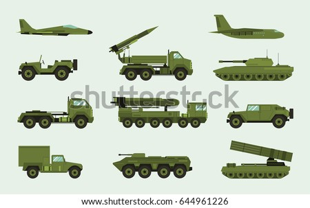 set of different military