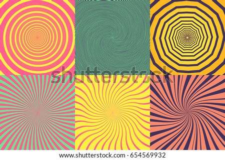 set of different psychedelic