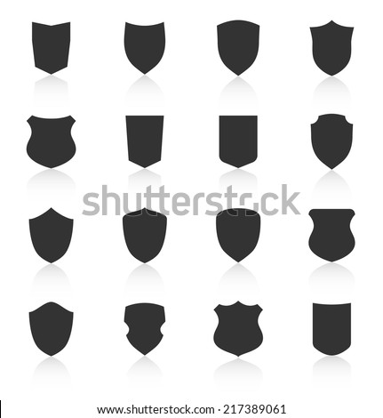 stock-vector-set-of-different-shield-shapes-icons-with-reflection-vector-illustration