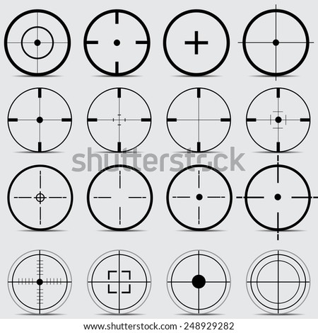 set of different sights on a