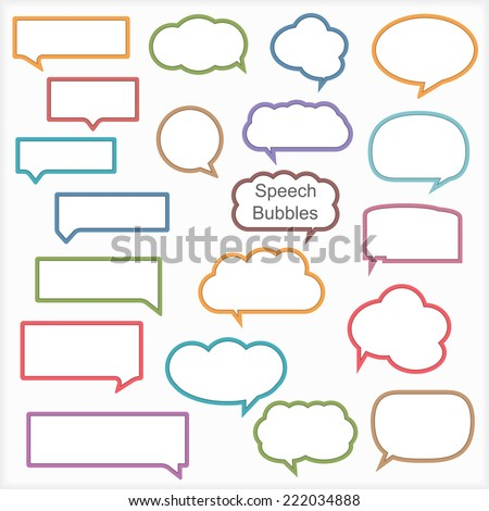 Set of different speech bubbles vector eps10 illustration