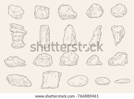 set of different stones in...