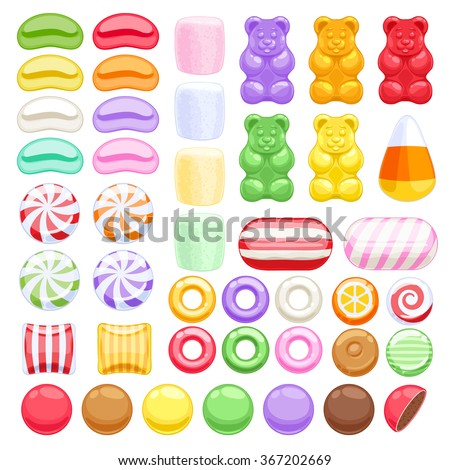 set of different sweets on
