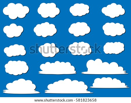 set of 20 different vector