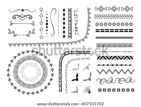 set of different vector decorative elements