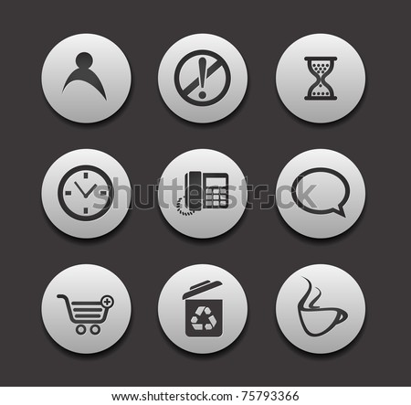 Set of different web Icons graphics for web design collections.
