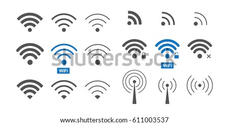 set of  different wireless and...