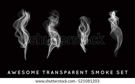 set of digital realistic smoke