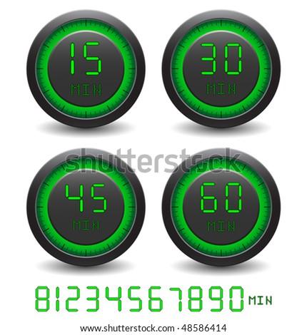 how to set hpm digital timer