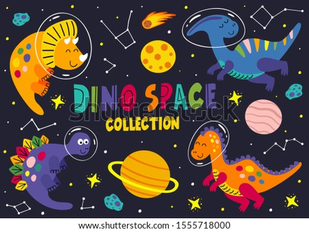 set of dinosaurs in space part
