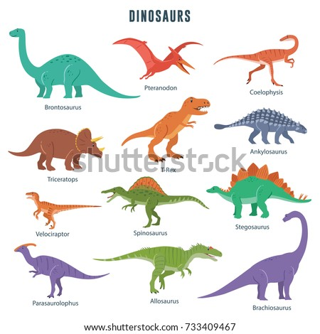 set of dinosaurs including t