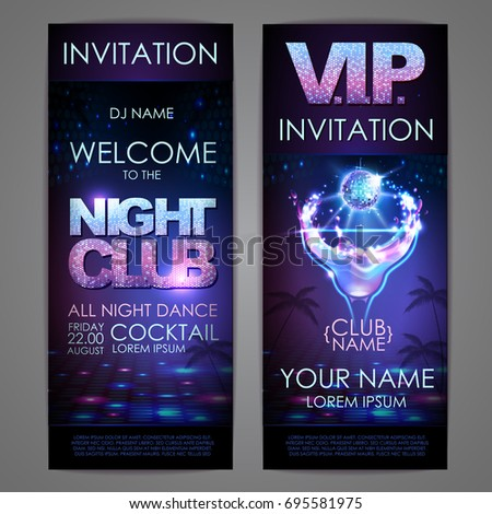 set of disco background banners